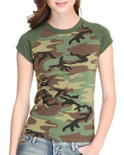 DRJ Army/Navy Shop - Woodland Camo Raglan Tee