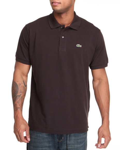 Lacoste Brown S/S Classic Pique Polo