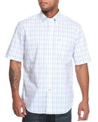 Nautica - Poplin Window Pane SS Plaid Button Down