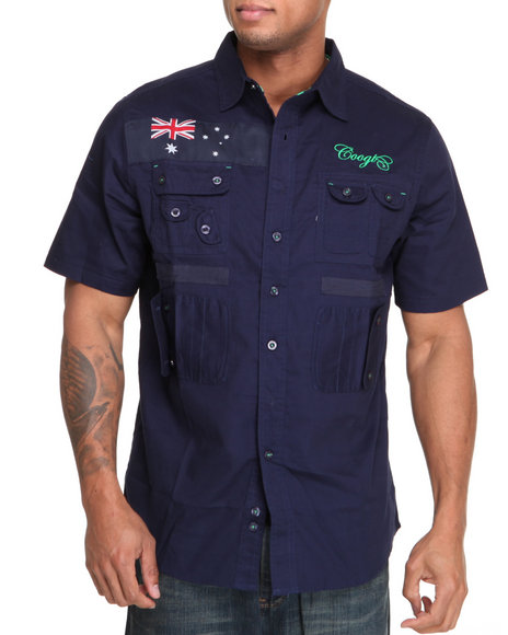 COOGI Men Navy Expedition S/S Button Down Shirt