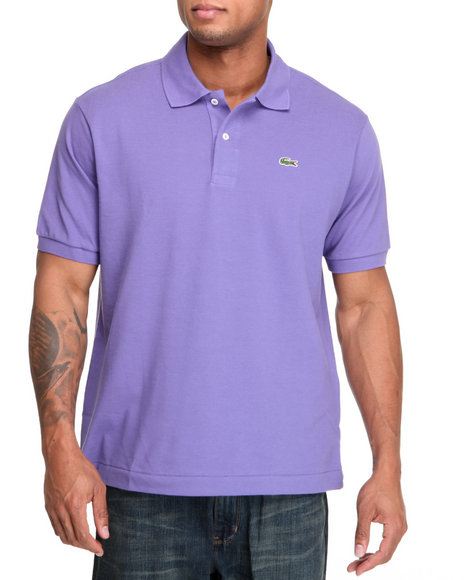 Lacoste Men Purple S/S Classic Pique Polo