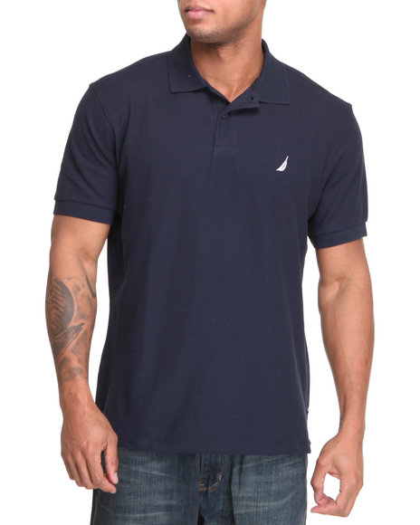Nautica Men Navy Solid Performance Polo