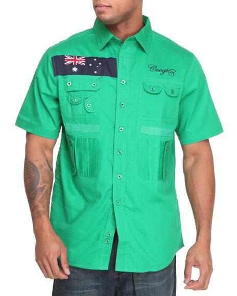 COOGI Men Green Expedition S/S Button Down Shirt