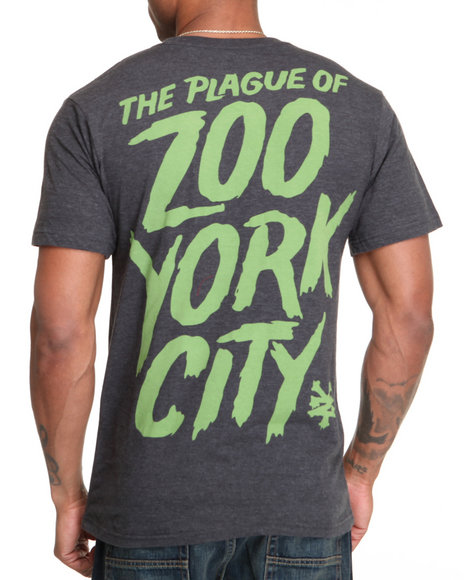 Zoo York Men Charcoal Plague Tee