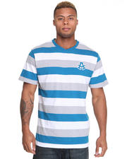 Short-Sleeve - Streamline Striped V Neck Tee