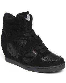 Apple Bottoms - Falco Sequin Trim Wedge Sneaker