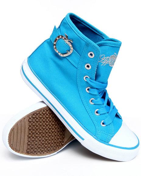 Apple Bottoms Women Blue Moss Canvas Sneaker