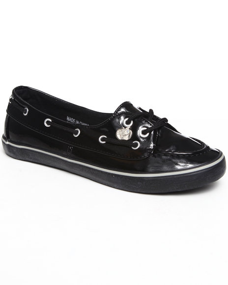 Apple Bottoms - Women Black Leona Boat Sneaker - $16.99