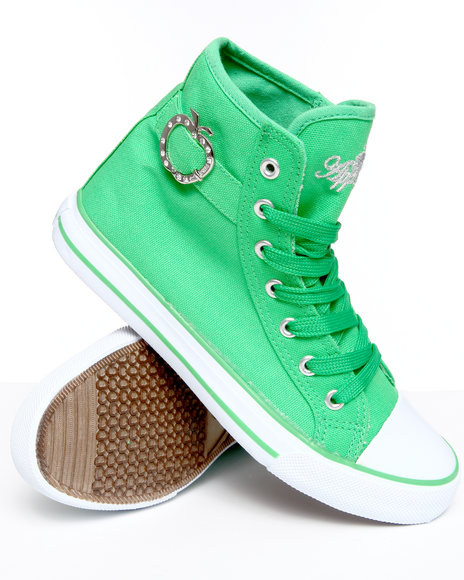 Apple Bottoms - Women Green Moss Canvas Sneaker