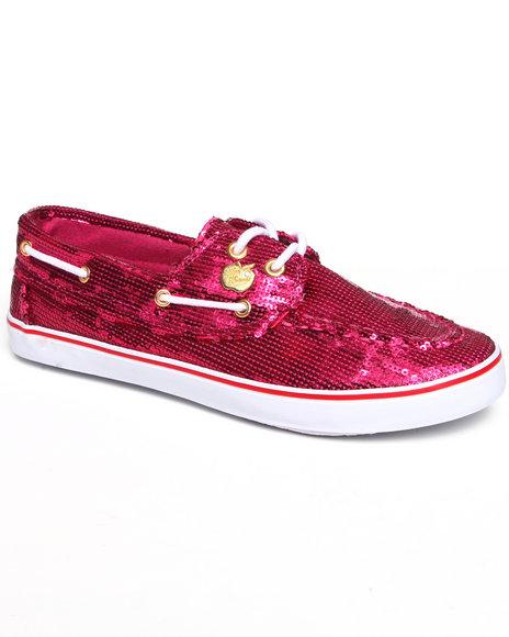 Apple Bottoms Women Pink Bonina Sequin Deck Sneaker