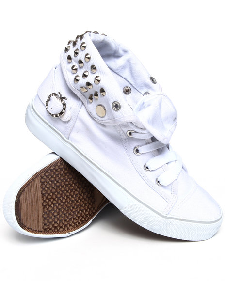 Apple Bottoms Women White Biner Canvas Sneaker