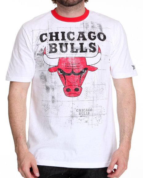 Nba  Mlb  Nfl Gear Men Chicago Bulls Blueprint Tee White XLarge