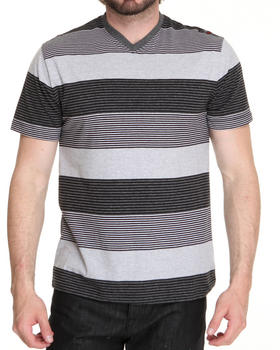 WT02 - V-Neck Stripe Tee