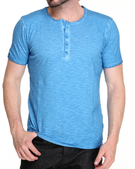 M.O.D. - Men Blue S/S Henley Tee