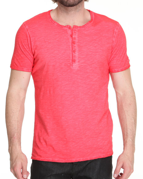 M.O.D. - Men Red S/S Henley Tee