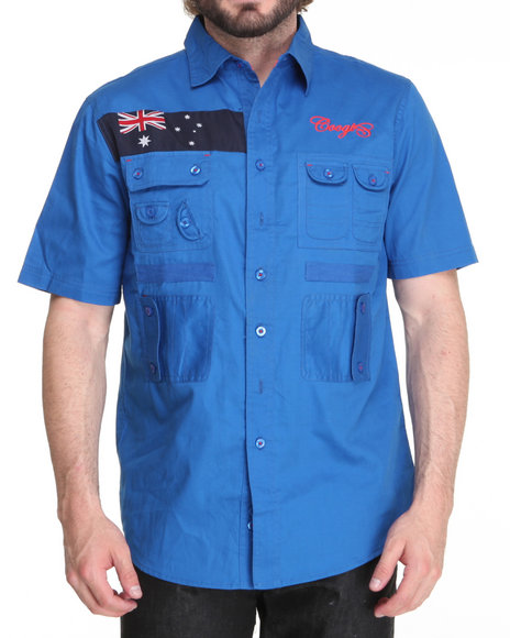 COOGI Men Blue Expedition S/S Button Down Shirt