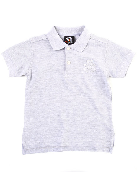 Akademiks Boys Light Grey Solid Polo (4-7)