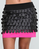 Baby Phat - FAUX LEATHER CIRCLES SKIRT