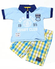 4-7x Little Boys - 2pc Cameron Rugby Short Set (4-7)