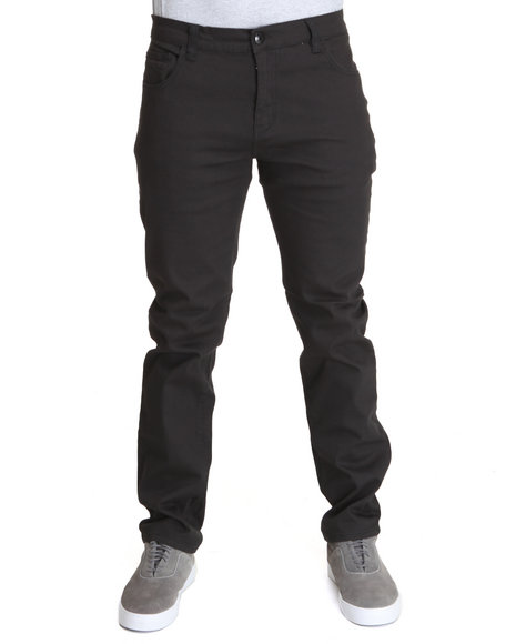 Wt02 Men Black Slim Fit Twill Pants