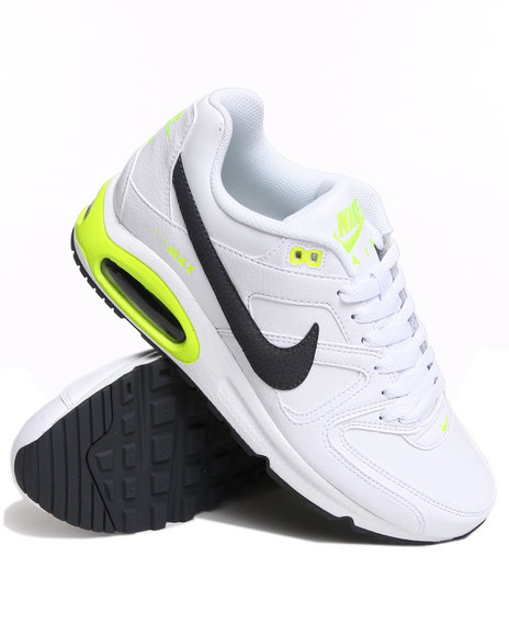 Nike Men White Air Max Command Leather Sneakers
