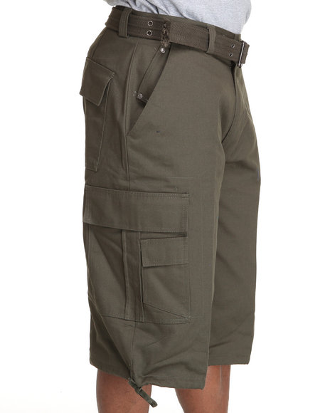 Basic Essentials - Cargo Shorts with Belt