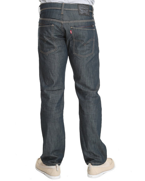 Levi's - Men Blue 514 Slim Straight Fit Hardcase Rinsed Playa Jeans