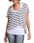 Tops - Vic Short Sleeve High Low Top