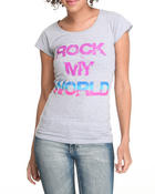 Tops - Rock My World Tee w/studs