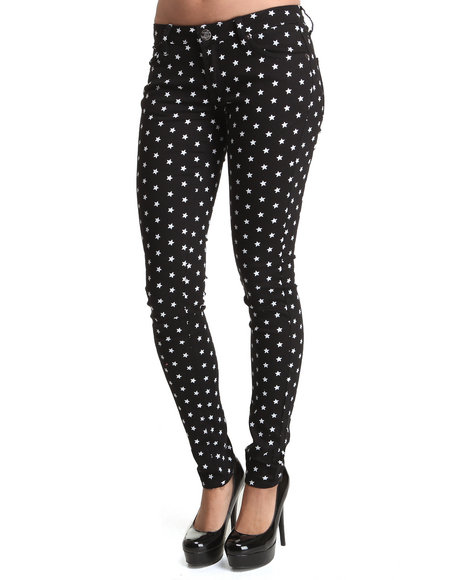 Basic Essentials - Star print skinny Jeans