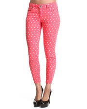 Jeans - Crop poka dot jean pants