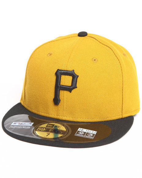 New Era - Men Gold Pittsburgh Pirates Alternate 2 Authentic 5950 Fitted Hat