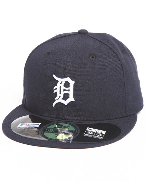 Ur-ID 222833 New Era - Men Navy Detroit Tigers Home Authentic 5950 Fitted Hat