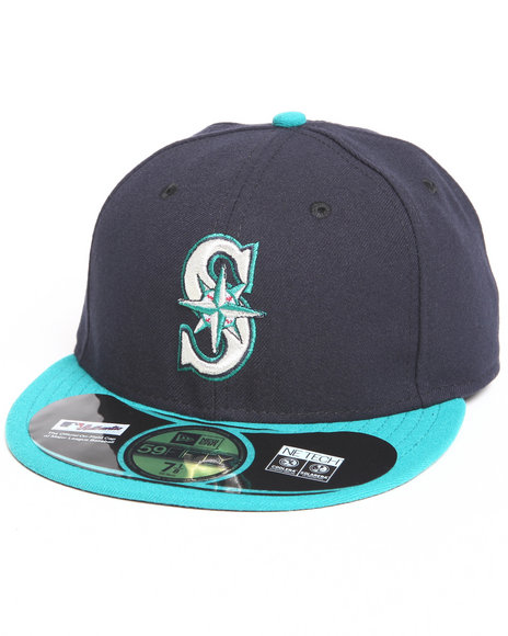 Ur-ID 222835 New Era - Men Navy Seattle Mariners Alternate Authentic 5950 Fitted Hat