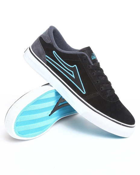 Lakai Men Black Manchester Black/Grey Suede Sneakers