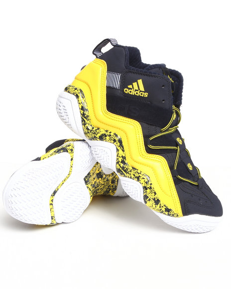 Adidas Men Navy,Yellow Top Ten 2000 Sneakers