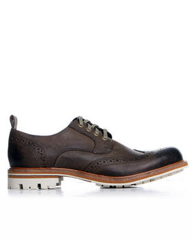 John Varvatos U.S.A. - Townshend Wingtip Lace up w/ Textured Sole