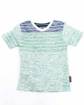 Arcade Styles - Slub Striped V-Neck Tee (4-7)