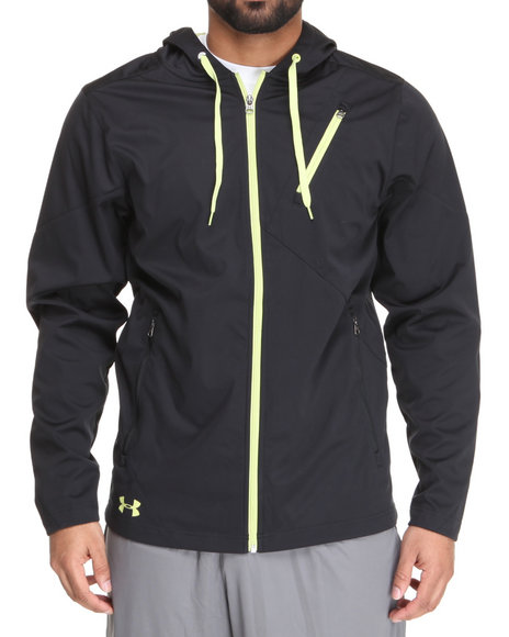 Under Armour - Men Black Winokee Windproof Hoodie