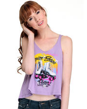 Tanks/Halters - Venice Beach Rollerz Cropped Tank Top