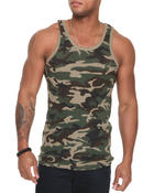 Basic Essentials - Camo Ribbed Tank Top