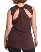Tops - Sleeveless back detail top (plus)