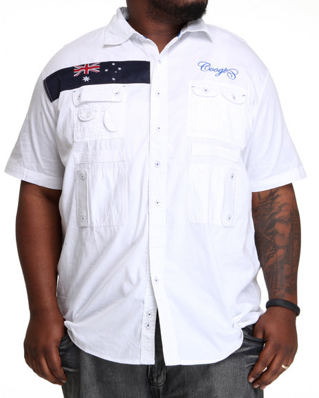 COOGI Men White Expedition S/S Button Down Shirt (B&T)