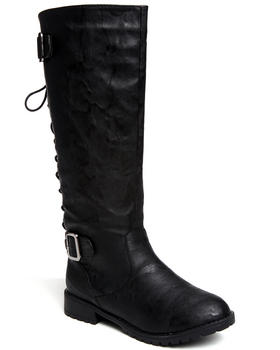 Fashion Lab - Lace-up Military Boot