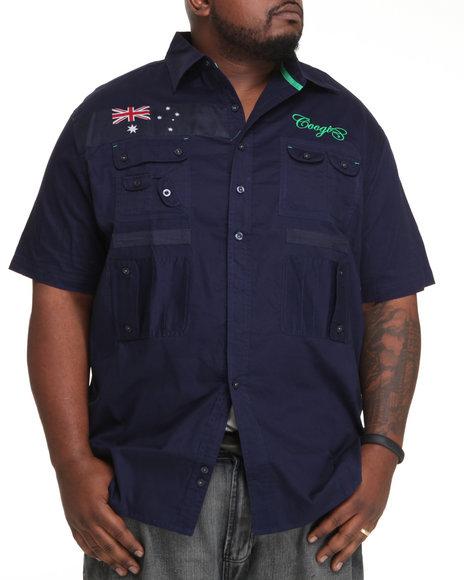 COOGI Men Navy Expedition S/S Button Down Shirt (B&T)