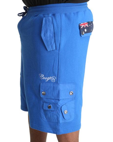 COOGI Men Blue Expedition Fleece Cargo Short (B&T)