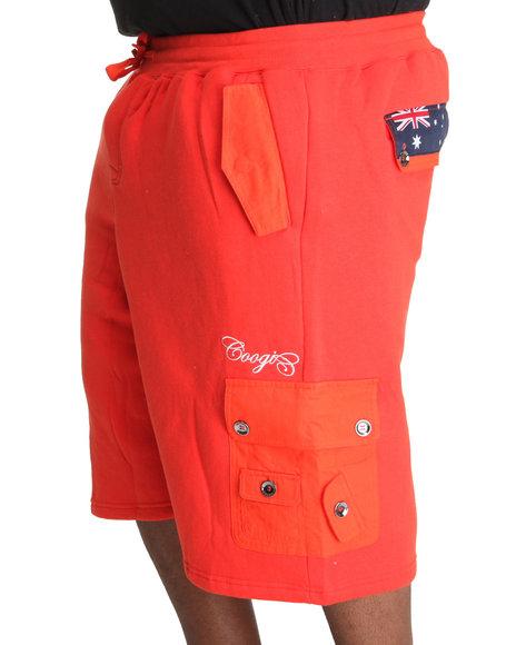 COOGI Men Orange Expedition Fleece Cargo Short (B&T)