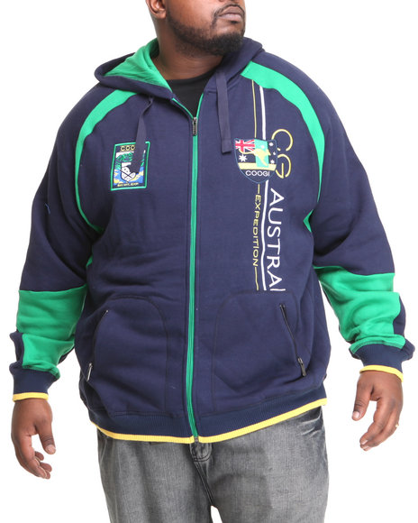 COOGI Navy Expedition Zip Hoodie (Big & Tall)