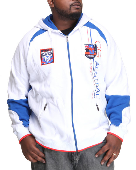 COOGI Men White Expedition Zip Hoodie (B&T)