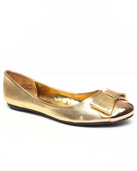 Fashion Lab - Melissa Ballet Flat w/bow toe metal hit